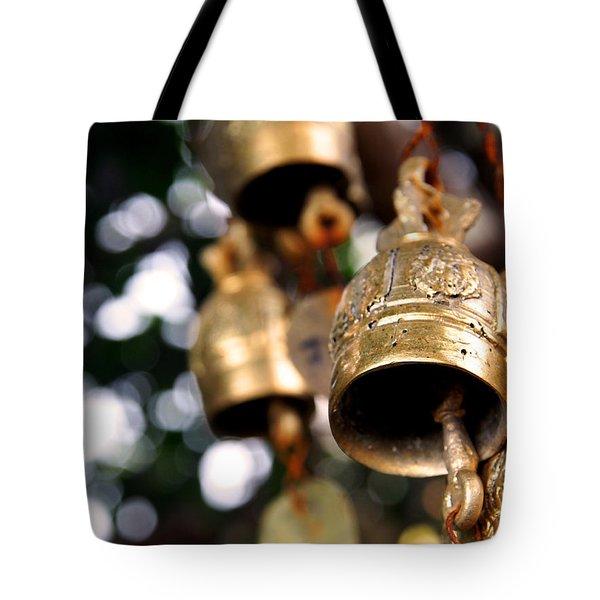 Prayer Bells Tote Bag by Kaleidoscopik Photography