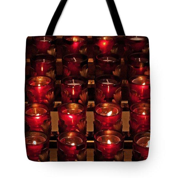 Prayer Candles Tote Bag