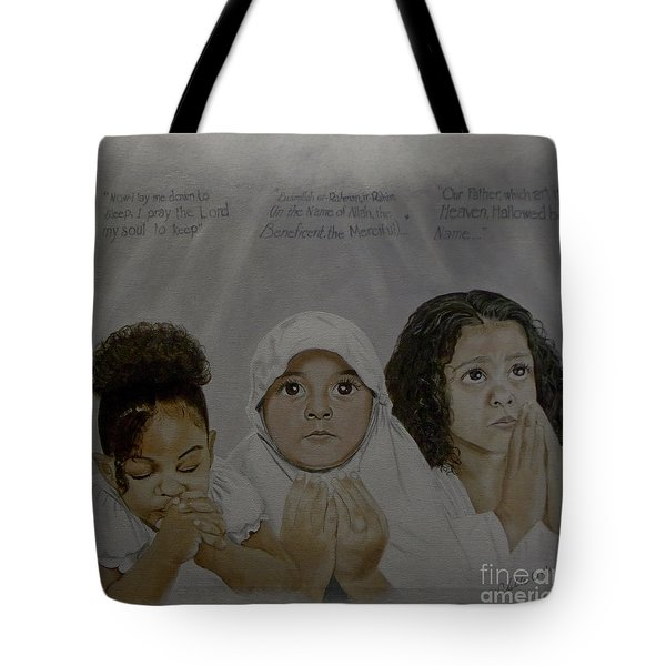 Prayer Time Tote Bag by Chelle Brantley