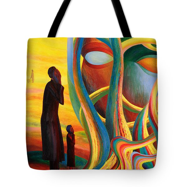 Prayers At The Tree Of Life Tote Bag