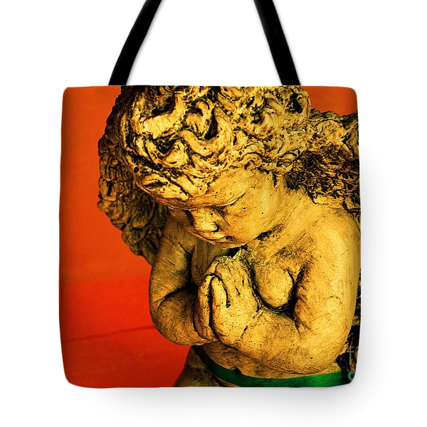 Praying Angel Tote Bag by Susanne Van Hulst