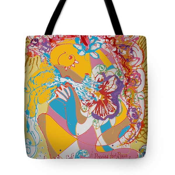Praying For Peace Tote Bag