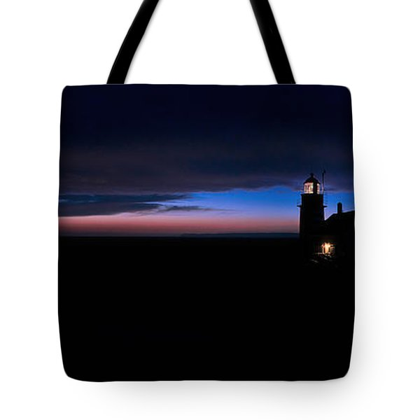 Pre Dawn Light Panorama At Quoddy Tote Bag