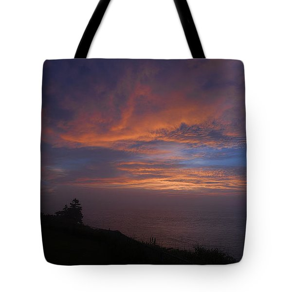 Pre Dawn Lighthouse Sentinal Tote Bag by Marty Saccone