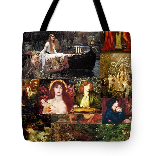 Pre Raphaelite Collage Tote Bag by Philip Ralley