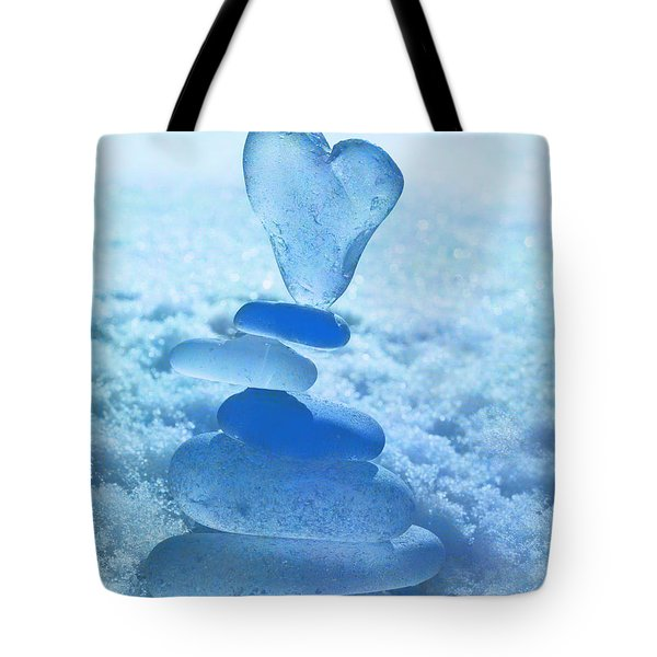 Precarious Heart Tote Bag