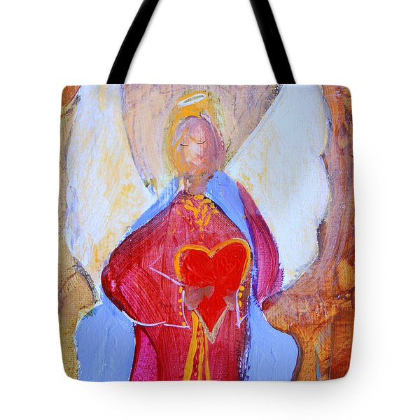 Precious Heart Angel Tote Bag
