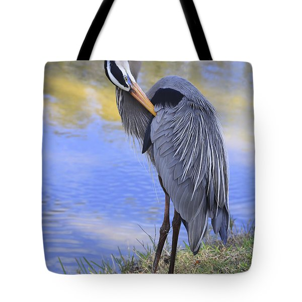 Preening By The Pond Tote Bag