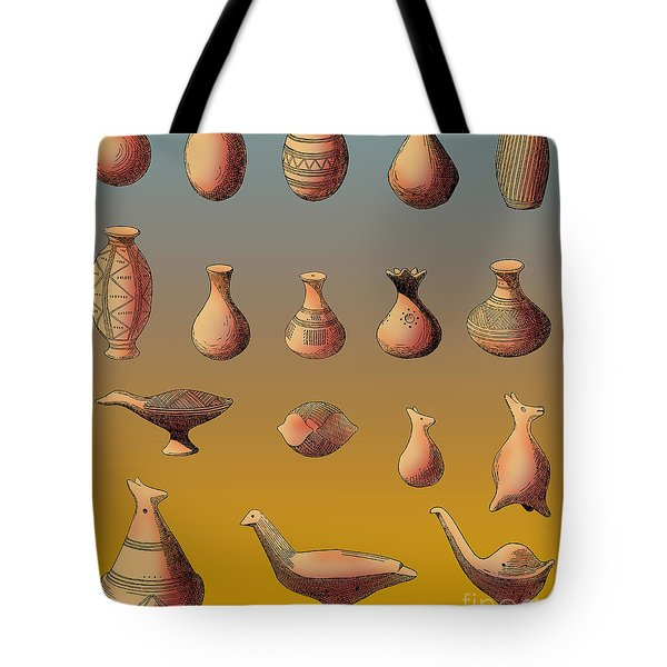 Prehistoric Clay Rattles Bronze Age Tote Bag by Photo Researchers