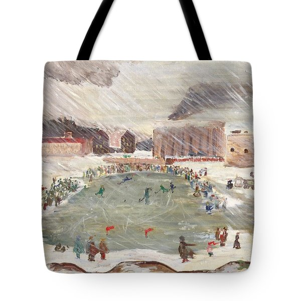 Premier Match De Hockey Tote Bag