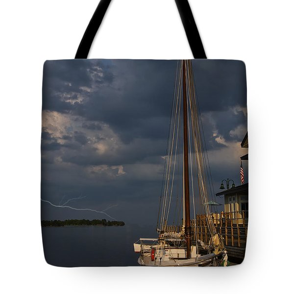 Preparing For The Storm Tote Bag