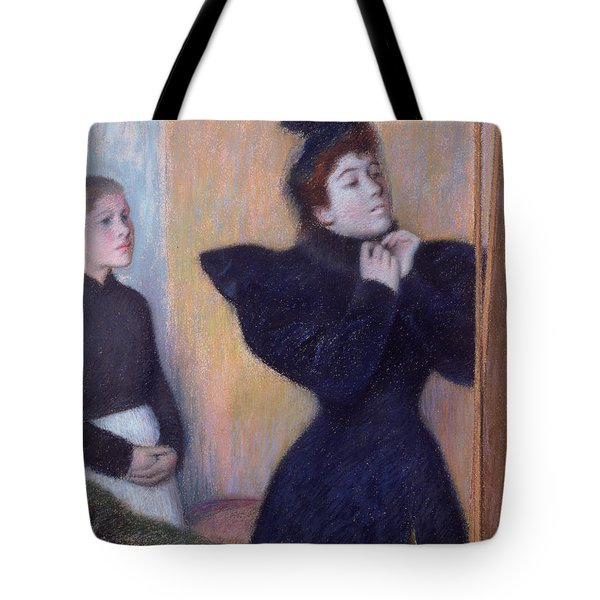 Preparing To To Out, 1894 Pastel Tote Bag
