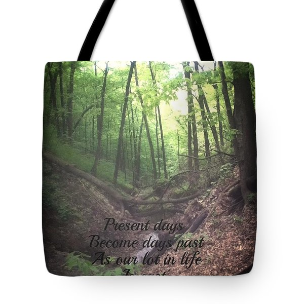 Present Days Become Days Past Tote Bag