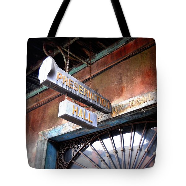 Preservation Hall Tote Bag by Beth Vincent