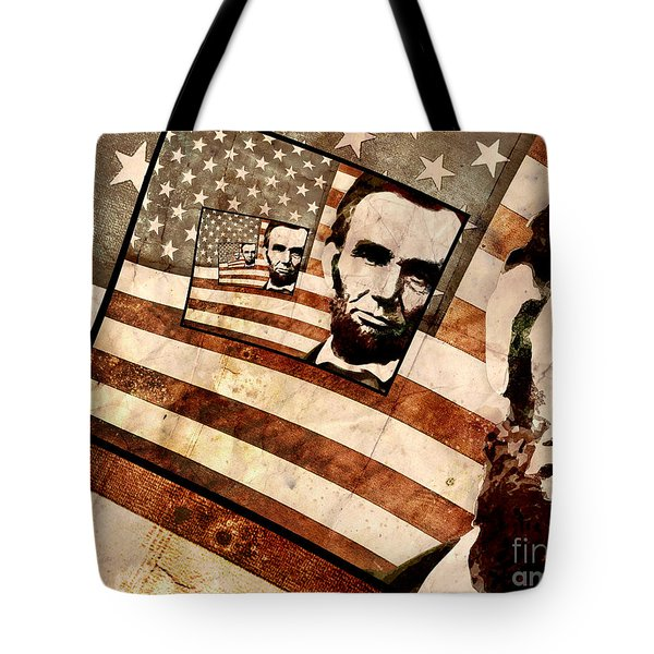 President Abraham Lincoln Tote Bag by Phil Perkins