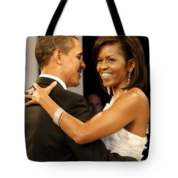President And Michelle Obama Tote Bag by Official Government Photograph