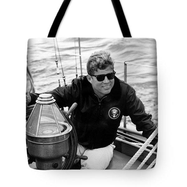 President John Kennedy Sailing Tote Bag
