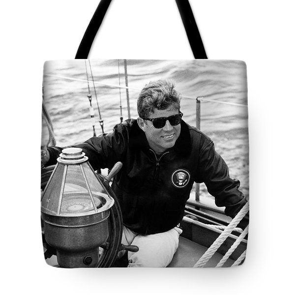 President John Kennedy Sailing Tote Bag by War Is Hell Store