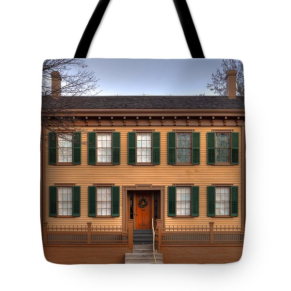 President Lincoln Home Springfield Illinois Tote Bag