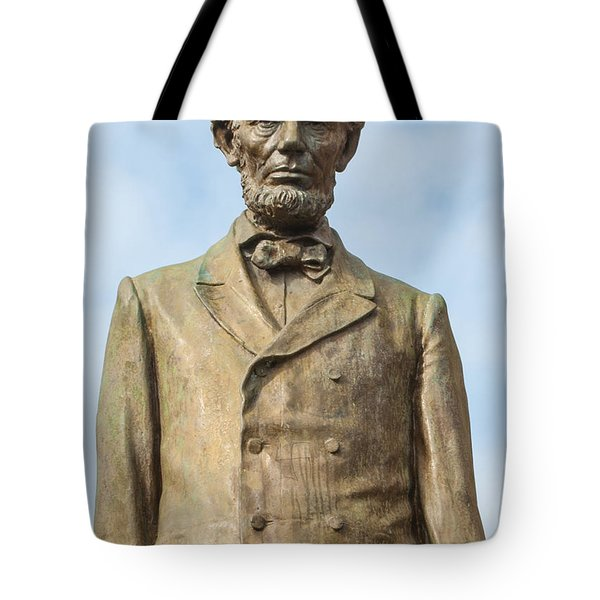 President Lincoln Statue Tote Bag by Tikvah's Hope