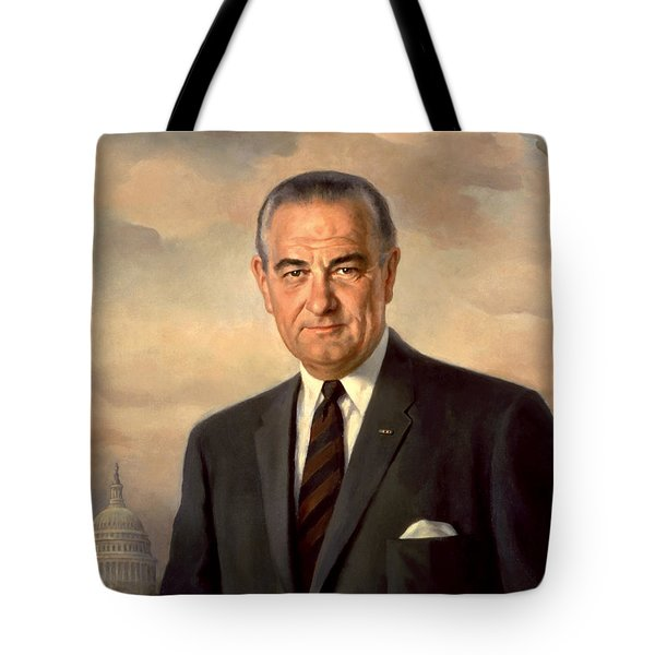 President Lyndon Johnson Painting Tote Bag by War Is Hell Store