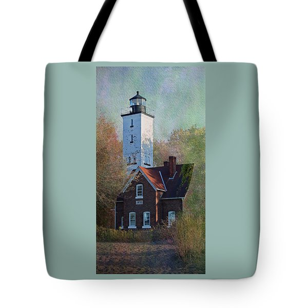 Presque Isle Lighthouse Tote Bag