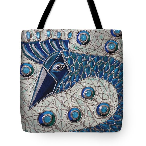 Pretty As A Peacock 2 Tote Bag by Cynthia Snyder