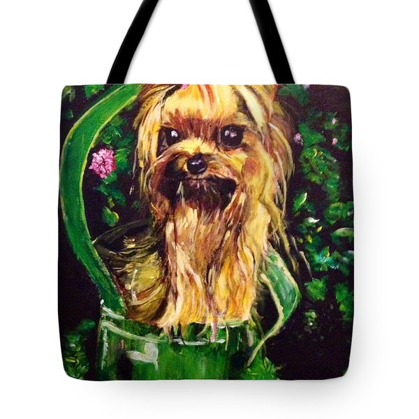 Tote Bag featuring the painting Pretty Bambi by Belinda Low