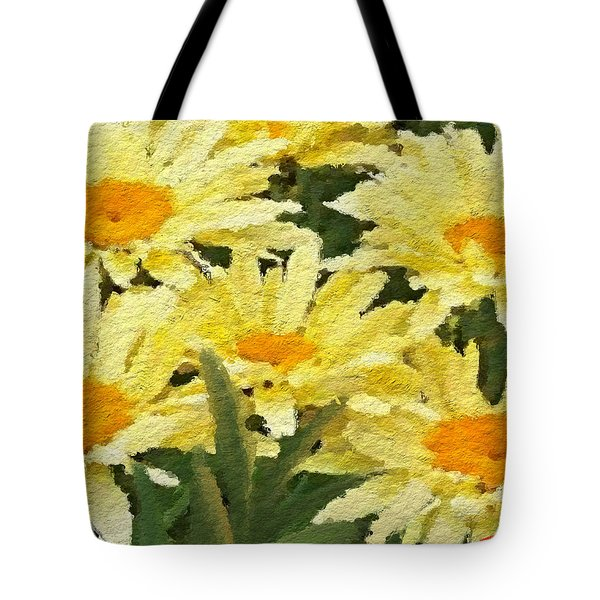 Tote Bag featuring the painting Pretty Banana Cream Shasta by Anthony Fishburne
