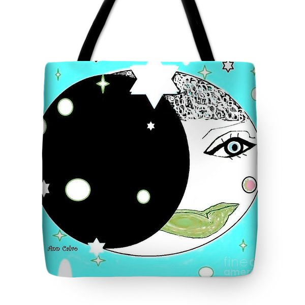 Tote Bag featuring the digital art Pretty Cheeky by Ann Calvo