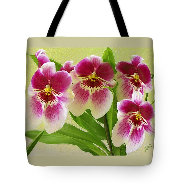 Pretty Faces - Orchid Tote Bag by Ben and Raisa Gertsberg