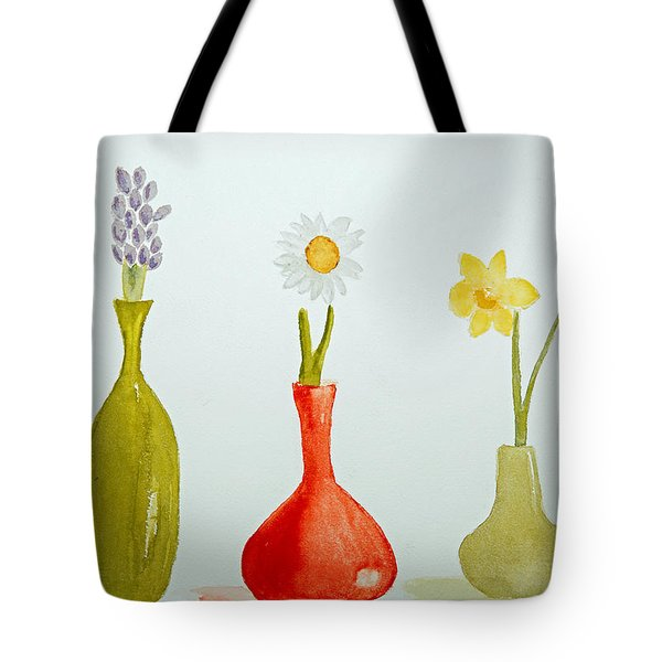 Pretty Flowers In A Row Tote Bag