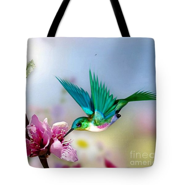 Pretty Hummingbird Tote Bag