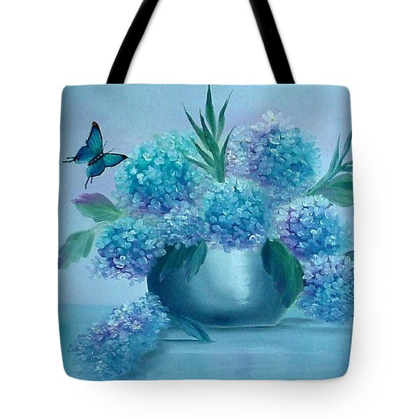 Pretty In Blue Tote Bag