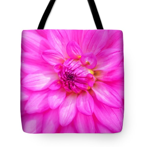 Pretty In Pink Dahlia Tote Bag
