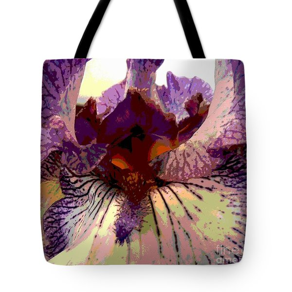 Pretty In Purple Tote Bag by Sally Simon