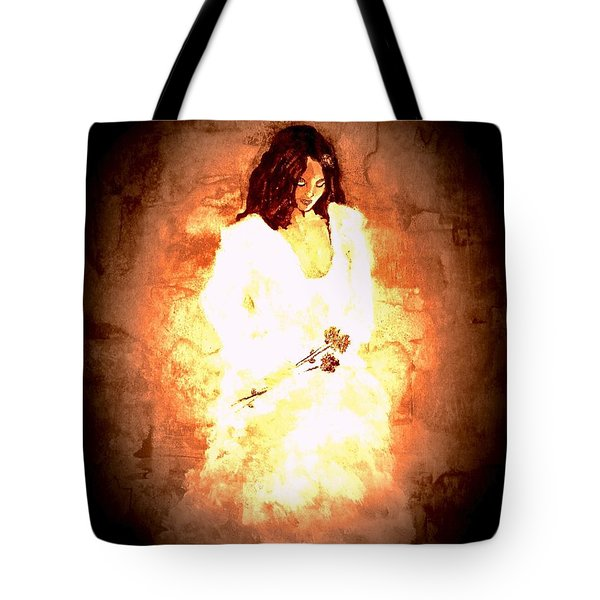 Tote Bag featuring the painting Pretty Lady by Denise Tomasura