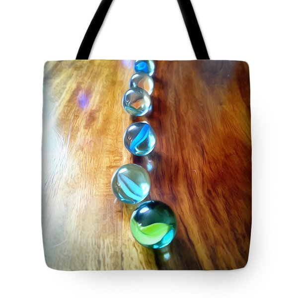 Pretty Marbles All In A Row Tote Bag