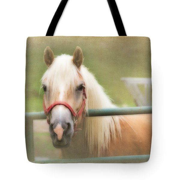 Pretty Palomino Horse Photography Tote Bag