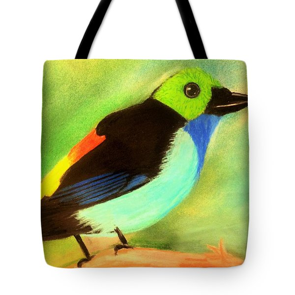 Pretty Paradise Tanager Tote Bag