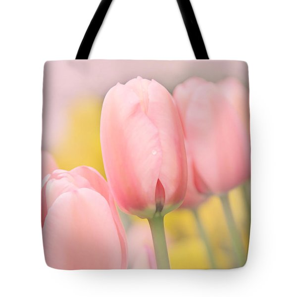 Pretty Pastel Pink Tulip Flowers Tote Bag by Jennie Marie Schell