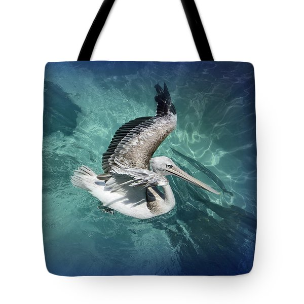 Tote Bag featuring the photograph Pretty Pelican by Pennie  McCracken