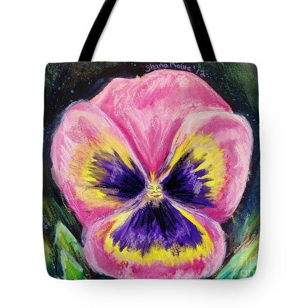 Pretty Pink Pansy Person Tote Bag by Shana Rowe Jackson