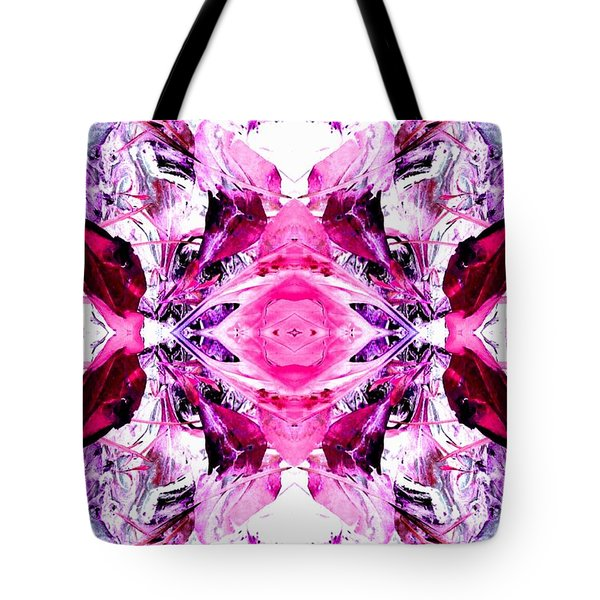 Pretty Pink Weeds Abstract  3 Tote Bag