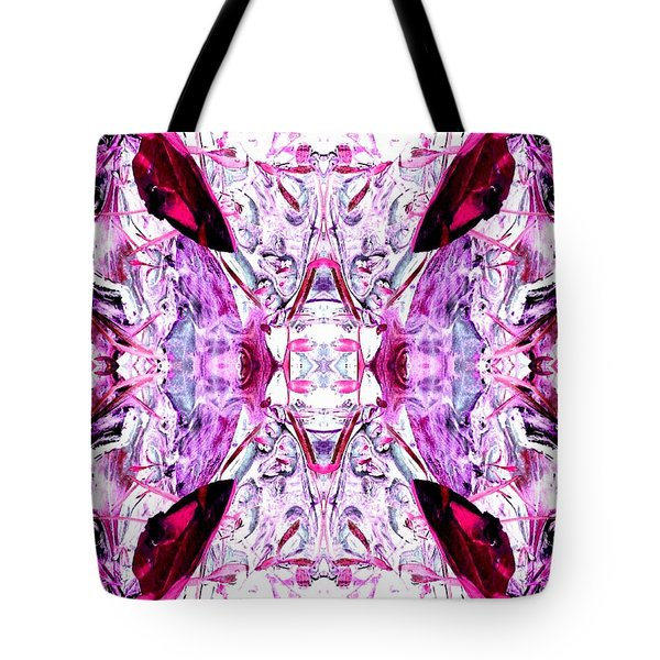 Pretty Pink Weeds Abstract  4 Tote Bag