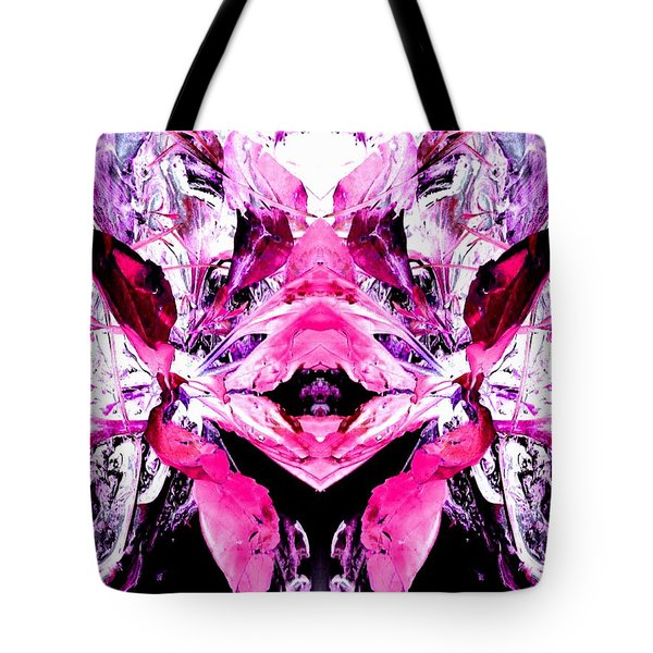 Pretty Pink Weeds Abstract  5 Tote Bag