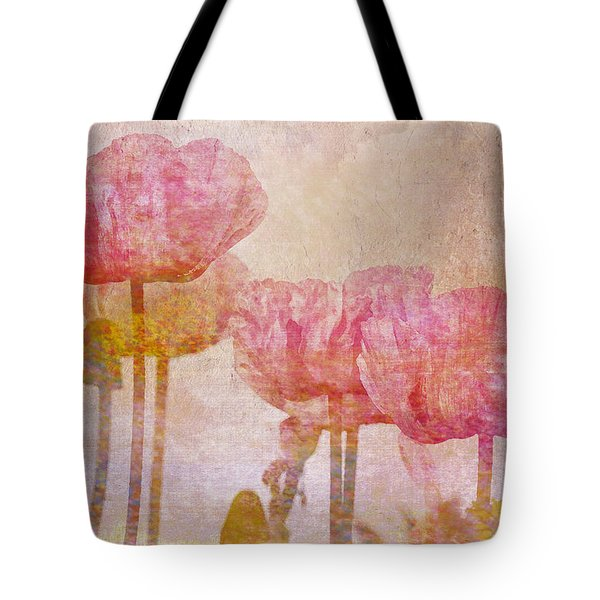 Pretty Poppy Garden Tote Bag