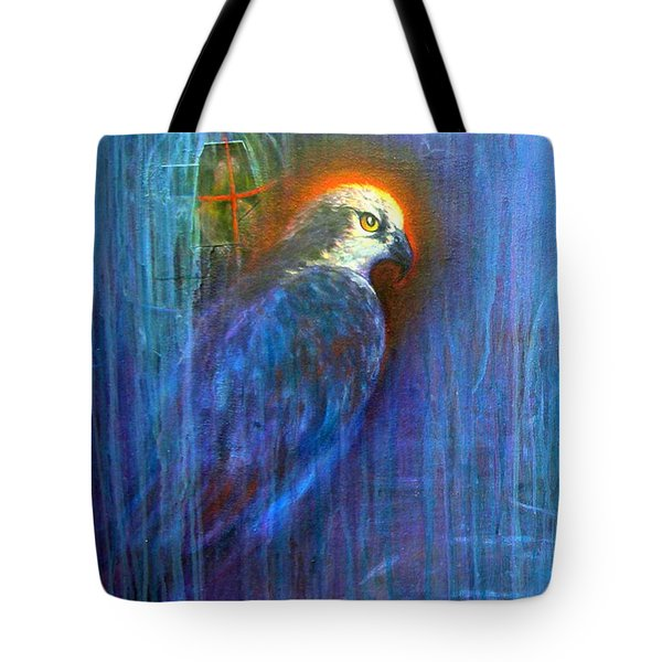 Tote Bag featuring the painting Prey by Ashley Kujan