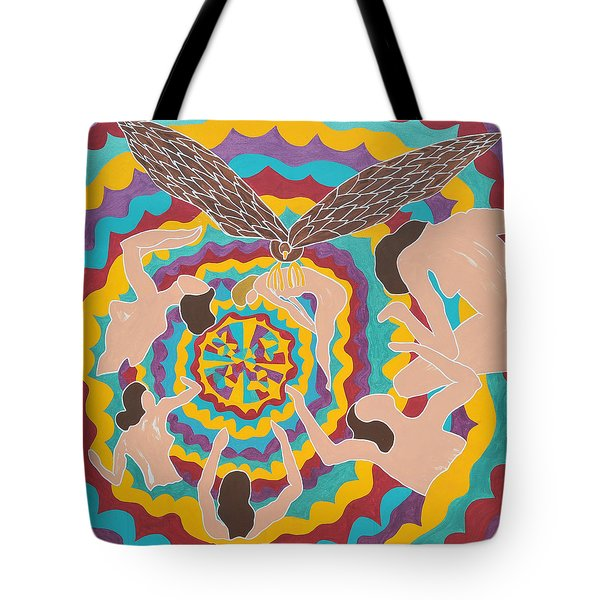 Tote Bag featuring the painting Preyed by Erika Chamberlin