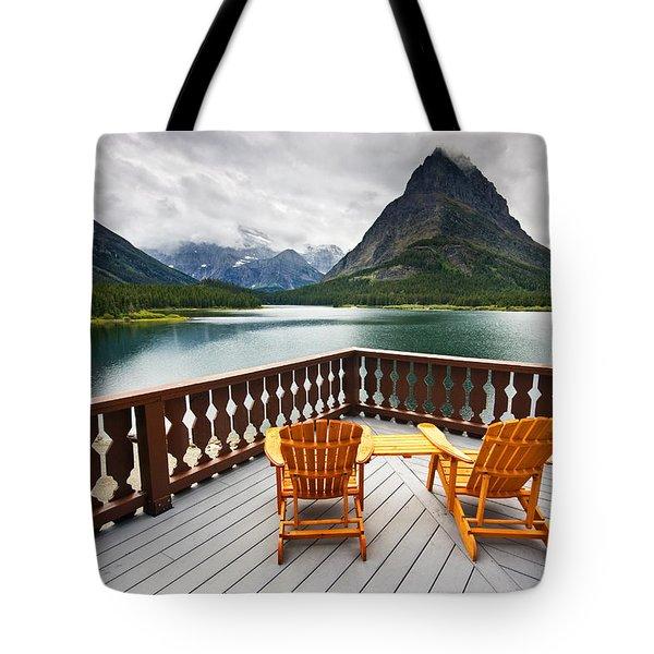 Priceless Glacier View Tote Bag